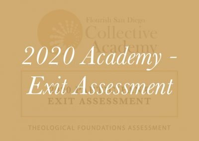 2020 Academy Exit Assessment