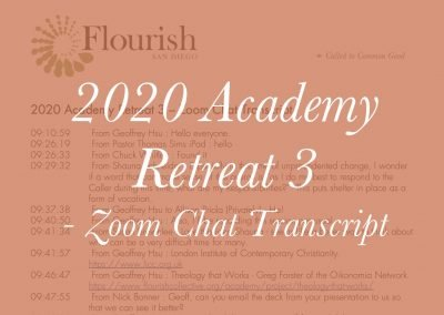 2020 Academy Retreat 3 – Zoom Meeting Chat Transcript