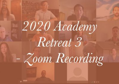 Retreat 3 – Zoom Meeting Recording
