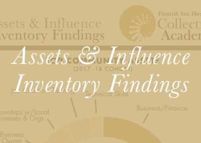Assets and Influence Inventory Findings 2017-2018 Cohort