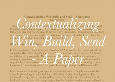 Contextualizing Win, Build, Send