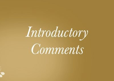 2021 – Introductory Comments Video
