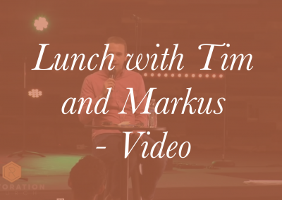 Lunch with Tim and Markus – Video