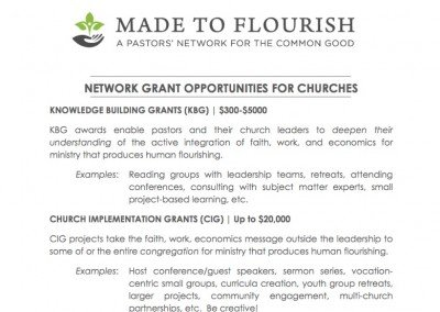 Network Grant Opportunities