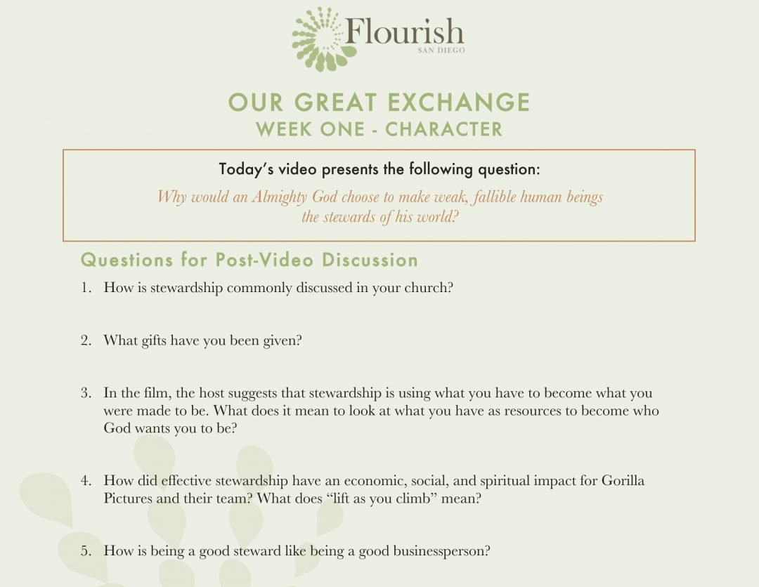 Our Great Exchange Discussion Guides