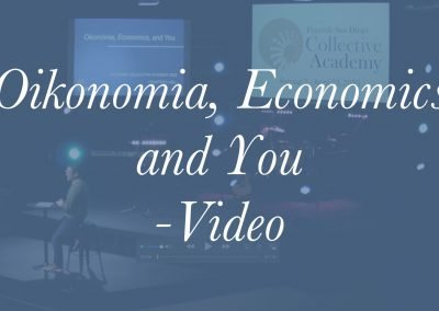 Oikonomia, Economics and You Video – Geoff Hsu