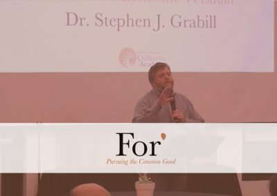 For* 2016 – Session 7: Creative Service is Built on Economic Wisdom, by Stephen Grabill