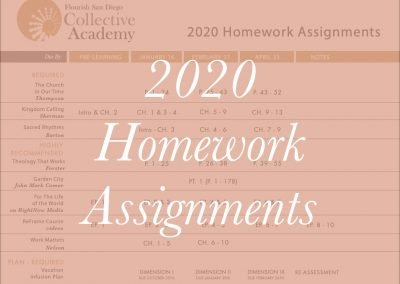 2020 Homework Assignments