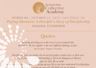 2016 Retreat 4 Handout: Paying Attention—A Disciple's Story