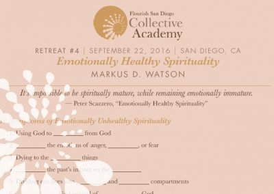 2016 Retreat 4 Handout: Emotionally Healthy Spirituality