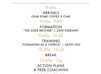 Retreat 5 Network Meeting Schedule