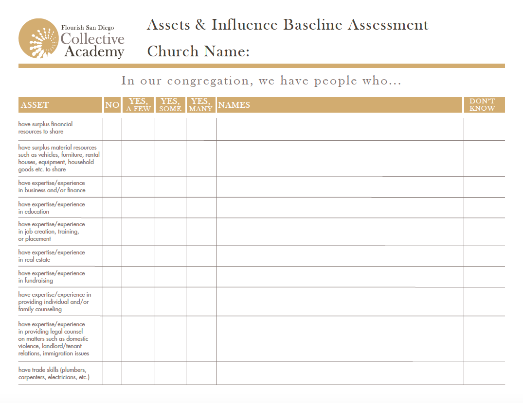 Asset & Influence Inventory Worksheet