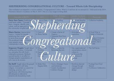 Shepherding Congregational Culture