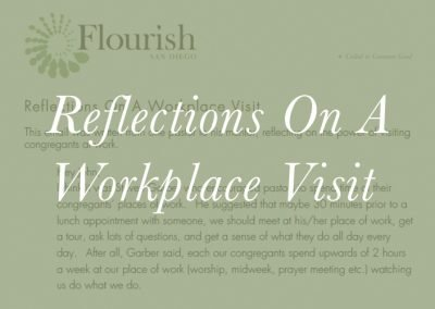 Reflections On A Workplace Visit