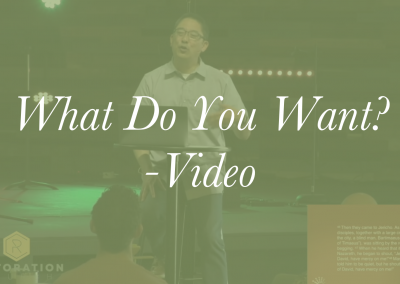 What Do You Want? – Video